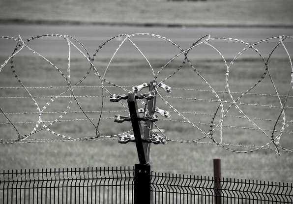 Image of perimeter security fence for mission-critical sites.
