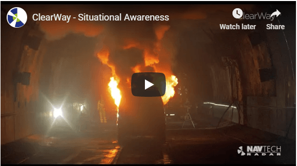 Situational awareness fire in tunnel video