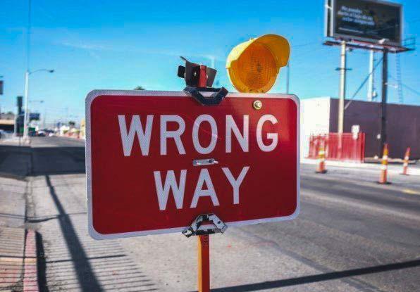 image of wrong way sign