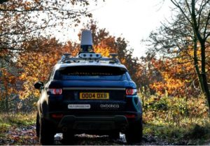 Autonomous vehicle with radar situated on roof