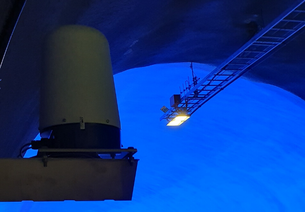 Navtech radar in Ryfast Tunnel
